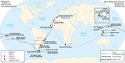 circumnavigations of the planet Earth