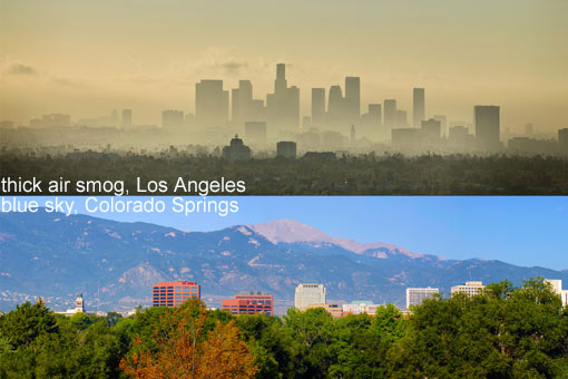 smog vs clean air
