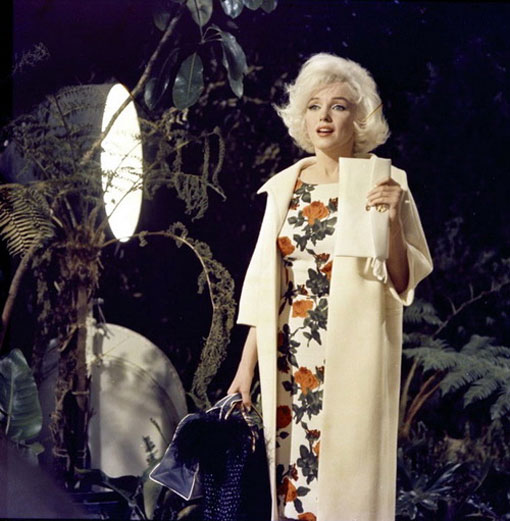 Marilyn photographed on the set of Something's Got To Give, 1962