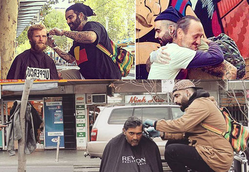 barber and recovering drug addict who is bringing dignity and hope to the homeless with the simple act of a free haircut