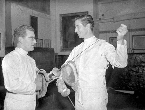 Young Bob Anderson, English Olympic Fencer