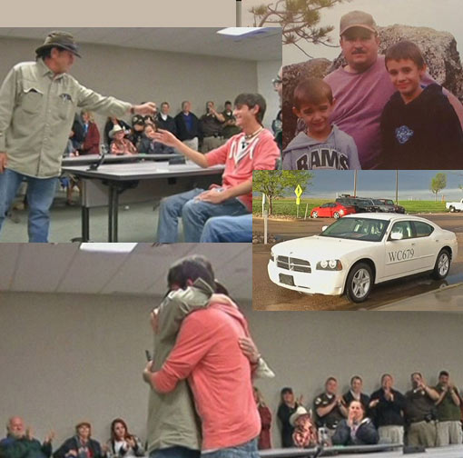 Son of Weld County Sheriff's Office deputy Sam Brownlee was outbid on his dad's squad car but was handed the keys by a stranger