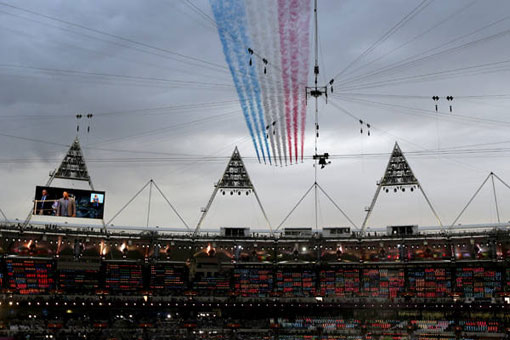 planes in formation at Olympics 2012 in London