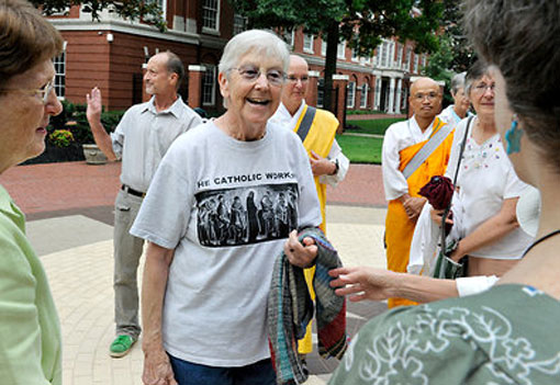 'non-nuclear nun' - Sister Megan Rice, Michael R. Walli, left, and Gregory I. Boertje-Obed, infiltrated a nuclear weapons site