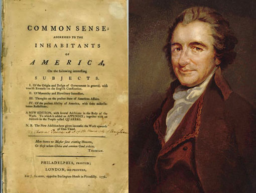 the book Common Sense by Thomas Paine