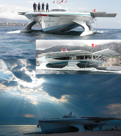 largest 100% solar ship, zero emission