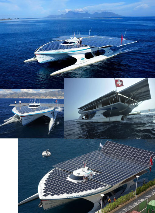 world largest solar ship
