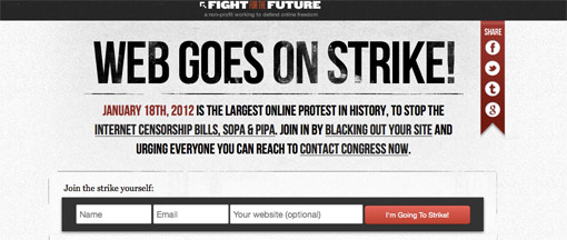 Web goes on strike - largest online protest in history