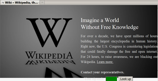 'Imagine a world without free knowledge' - Wikipedia blacks out for 24 hours