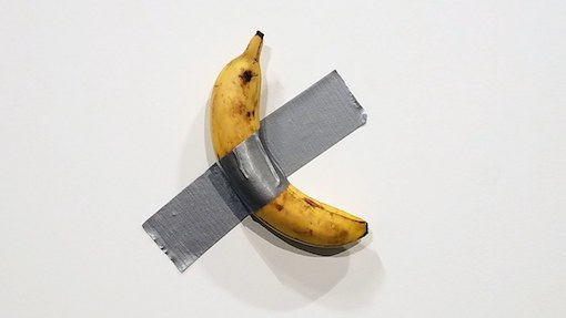 "Bananas over bananas? ""Concept Art"" banana-duct-taped-to-wall sold for $120,000 to $150,000, eaten by performance artist: ""it was very delicious"""