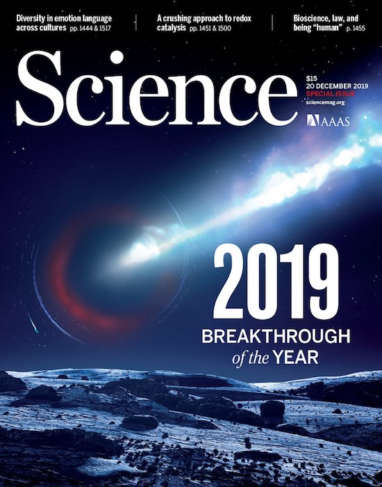 "2019 ""the year of the blackhole"" - The Science Magazine's Breakthrough of the Year goes to the Event Horizon Telescope"