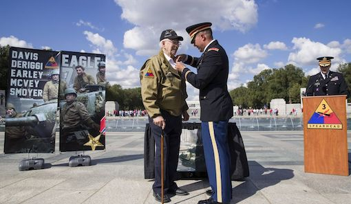 """96-year-old WWii Veteran """"Hero of Cologne"""" awarded Bronze Star in surprise ceremony 75 years later"""