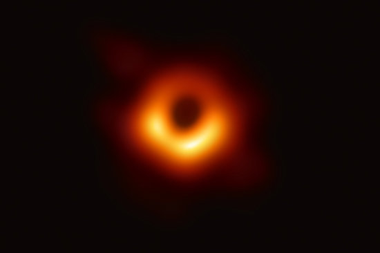 First ever photo of a Black Hole, in a galaxy 55 million light years away from Earth