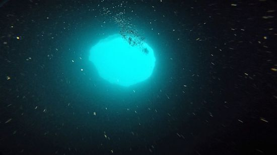 Mystery, Nature's Awe. Blue hole, under ocean? Black hole, sky above sky