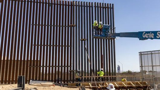 11-mile border wall panel installation underway in California