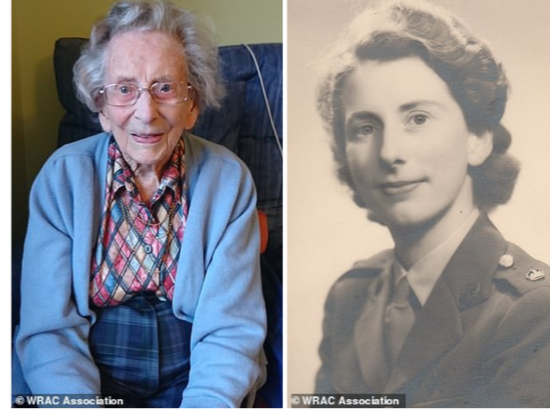 "Gladys ""Anne"" Robson, age 108, former army major and Britain's oldest female WWII veteran, lived through 20 prime ministers, 4 monarchs and 1st space launch"