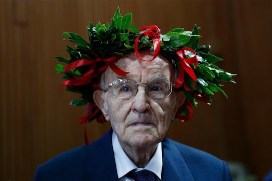 Congrats! Italy's oldest student graduates university at 96, a WWII veteran who enrolled in degree study in 2017