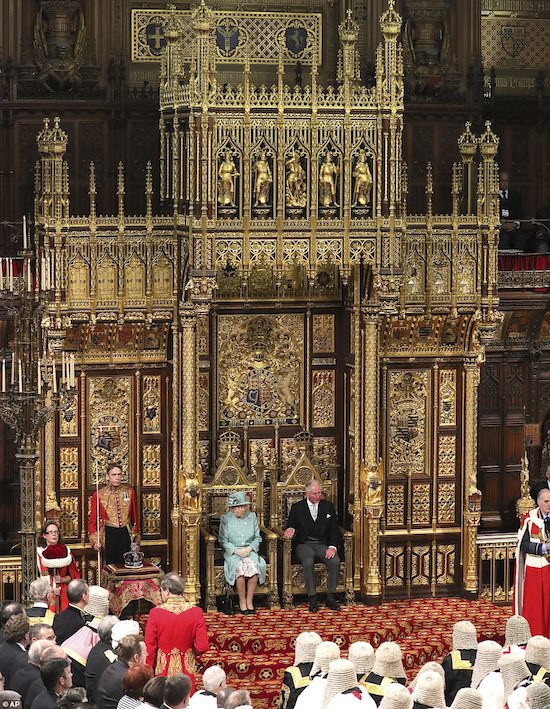 Queen Elizabeth's speech to Members of Parliament and Lords at the State Opening of Parliament