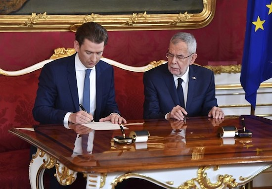 "Austria's Sebastian Kurz, 33, returns as world's youngest chancellor, vows to ""protect climate and the borders"""