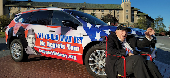 """Unsung Hero"" of the Greatest Generation, 101-year-old WWII veteran Sidney Walton launches ""No Regrets Tour"" at 99"