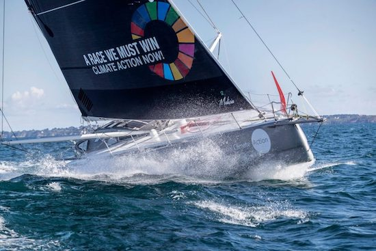 Team Malizia zero-carbon yacht to sail across Atlantic for UN Climate Action Summit