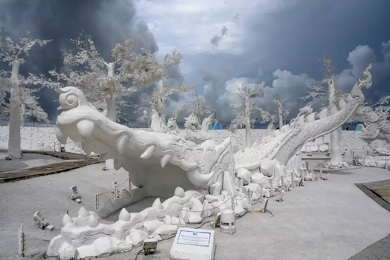 Magical: Thailand theme park's 30,000-sqm ice sculpture exhibit of mythological creatures uses white sand, melt-proof in 30C