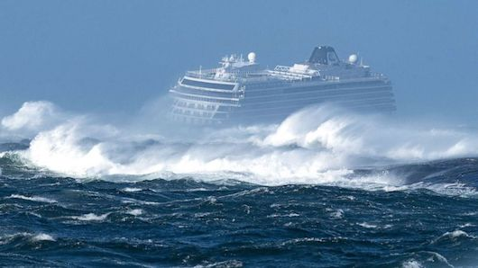 Mayday call off Norway coast - Viking Sky cruise ship's 1,300 passengers and crew, one-by-one airlifted to helicopters as heaving waves tossed the ship from side to side